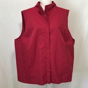 Eileen Fisher Woman Sleeveless Lined Vest Berry 3X